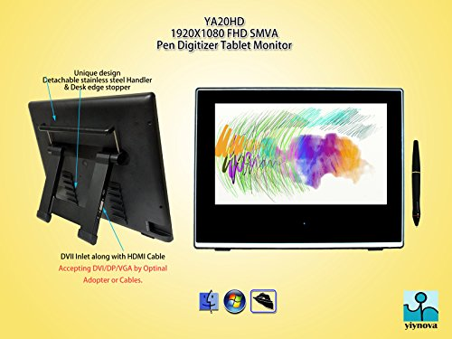 Yiynova MVP20U+FE Full HD Tablet Monitor (Mac & Windows OS)(HDMI port) by The Panda City