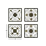 Aspire Deco 79 Rustic Metal Framed Scrollwork and