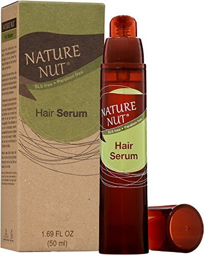 Nature Nut Hair Serum – Naturally Tame and Treat Unruly, Frizzy, Dry, and Damaged Hair with Argan, Macadamia, Coconut, and Brazil Nut Oils, and Shea Butter (1 Pack) ()
