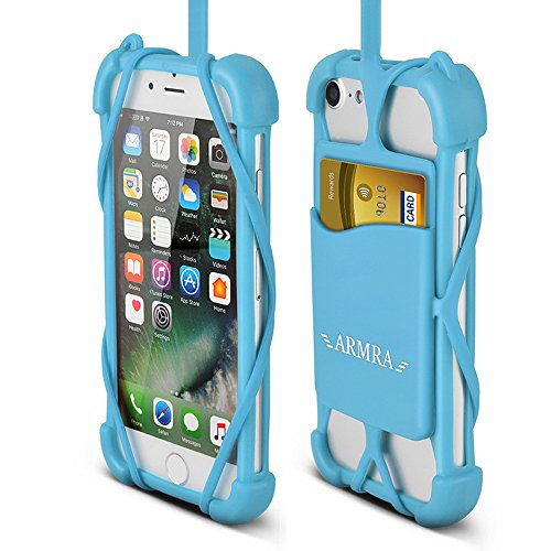 brand new afbe4 f42cd 2 in 1 Cell Phone Lanyard Strap Case, Universal Smartphone Neck Laniard  Shockproof Cover with ID Card Holder Necklace Tether for iPhone X 8 7 6 6S  ...