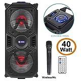 Zoook Rocker Thunder Plus 40 watts Karaoke Bluetooth Speaker with Remote & Wireless Mic(Black)