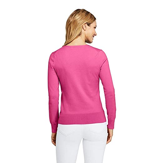 027785fb90 Lands  End Women s Tall Supima Cotton Cardigan Sweater at Amazon Women s  Clothing store
