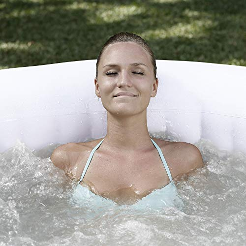 Coleman SaluSpa 4 Person Portable Inflatable AirJet Spa Hot Tub, Gray