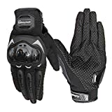 Hafone Shooting Gloves Military Hard Knuckle Tactical Gloves Full Finger Outdoor Motorcycle Gloves for Cycling Motorbike Hunting Camping Powersports Police Men Airsoft Paintbal Black (L)