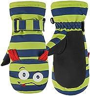 Cicilin Unisex Kids Snow Mittens, Warm Water-Resistant Ski Gloves, 1-10 Years
