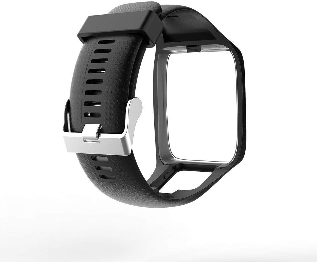 Cinturino per Tom Tom 2 3 Series Cinturino di Ricambio Silicone Cinturino da Polso Cinturino per Tomtom Runner 2 3 Orologio GPS DFHJSXD