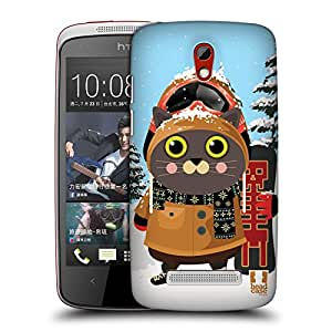 Head Case Designs Snowboarding Cool Cats Hard Back Case for HTC Desire 510