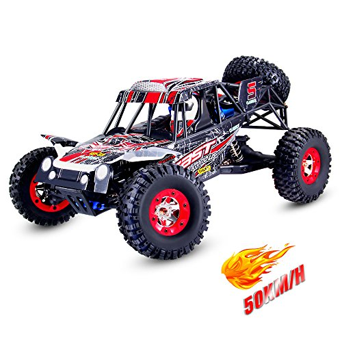 Geekper Electric RC Car High Speed 50KM/H Batmobile Car - 1:12 2.4GHz Radio 4WD RC Cars - with 1 Rechargeable Batteries
