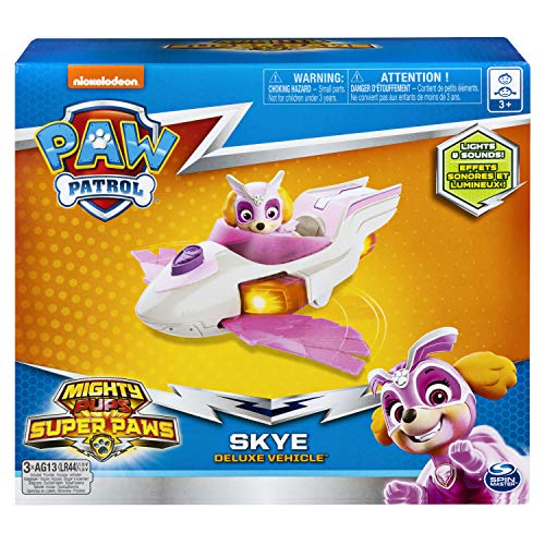 Paw Patrol Mighty Pups Super Paws Skye's Deluxe Vehicle with Lights & Sounds - http://coolthings.us