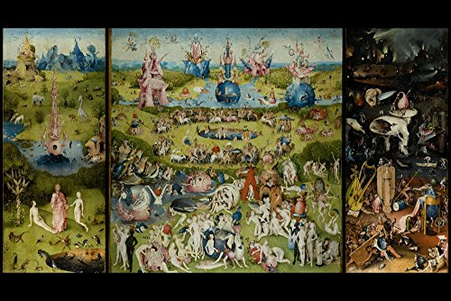 The Garden of Earthly Delights - (Artist: Hieronymus Bosch c. 1480) - Masterpiece Classic (16x24 Giclee Gallery Print, Wall Decor Travel Poster)