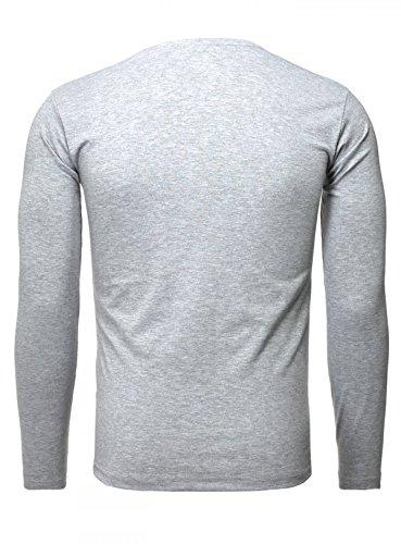 Akito maniche da lunghe a grigio shirt T Tanaka uomo 7Iwqr7