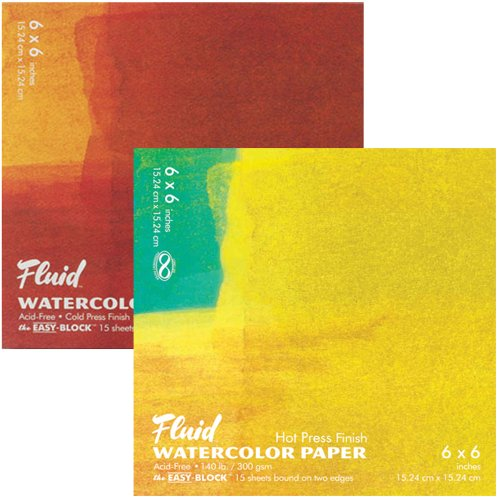 Fluid Easy Block Fluid Watercolor Blocks 6 in. x 6 in. block