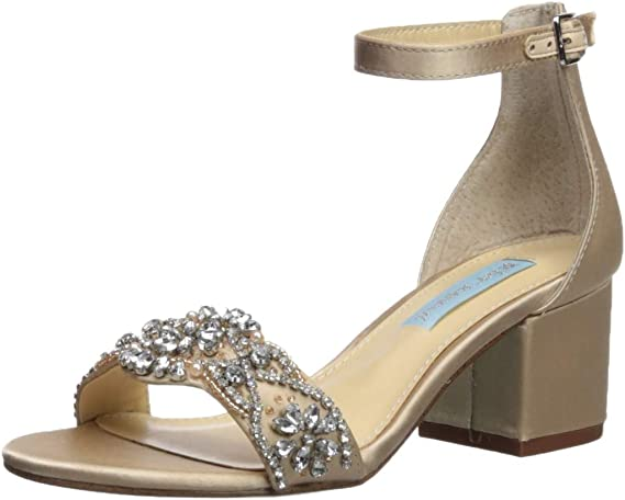 Betsey Johnson Women's Sb-Mel Heeled Sandal