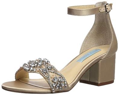 47412cb4dfff Betsey Johnson Women s SB-Mel Heeled Sandal Champagne 6 ...