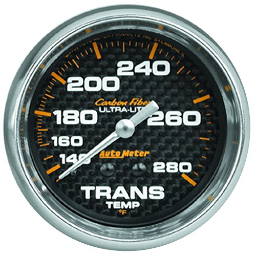 Auto Meter 4851 Carbon Fiber Mechanical Transmission Temperature (Auto Meter Carbon Fiber Oil)