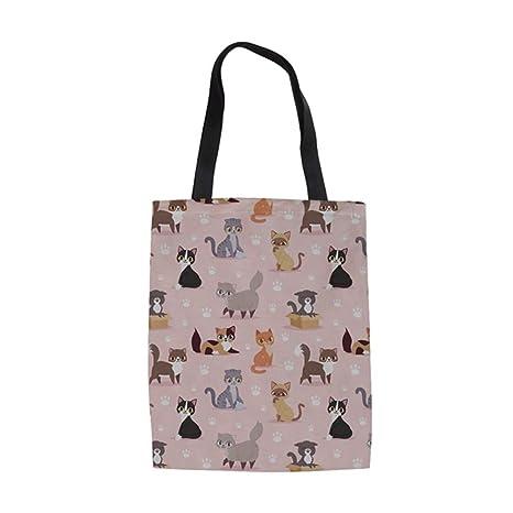 ZXXFR Bolsos Cat Puzzle Animales Imprime Bolsa Top-Handle ...