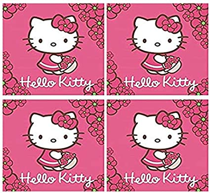 Hello Kitty 4 Set Gaestetuech Hand Tuech Viso Tuech Seiftuech Lavette Da Bagno 30 X 30 Cm 100 Cotone Amazon It Casa E Cucina