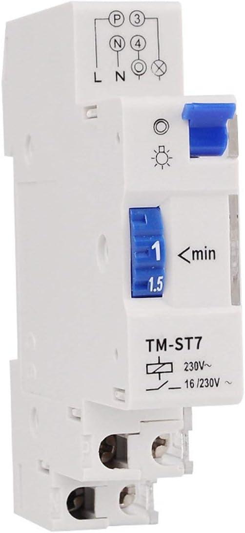 Rouku TM-ST7 220V 7 Minutos Temporizador mecánico 18mm Módulo ...