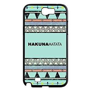 Custom Hakuna Matata Design Samsung Galaxy Note 2 Plastic Case Cover