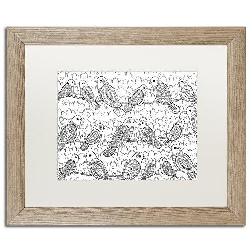 Amazon com: Trademark Fine Art Little Paisley Birdies by Hello Angel