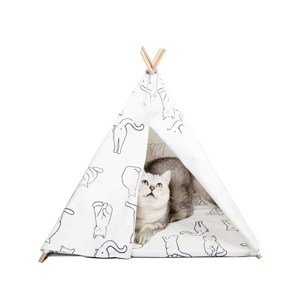 6460cm BEIBEI Pet Nest, Pet Cat Kennel, Small Kennel, Removable And Washable, Non-stick Hair Bed Tent, Cat House, Pet Bed, (60  64cm) (Size   64  60cm)