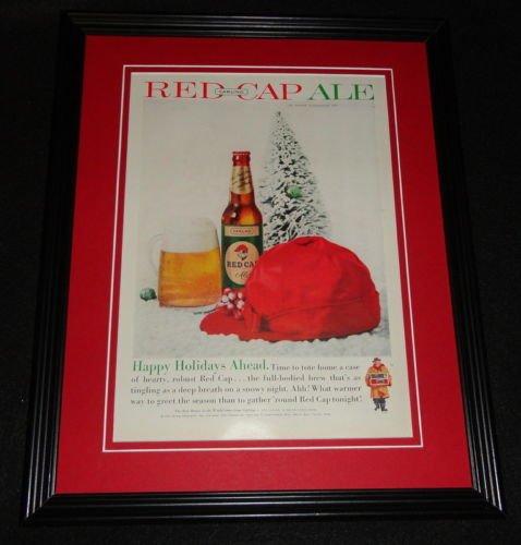 1959 Carling Red Cap Ale 11x14 Framed ORIGINAL Vintage Advertisement