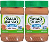 Smart Balance Rich Roast Natural Chunky Peanut Butter (Pack of 2) 16 oz Jars