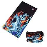 Zupoo(TM) Skulls Series 16-in-1 Multifunctional Headband Sports Magic Scarf,Collars Muffler Scarf Face Mask,Shark monster