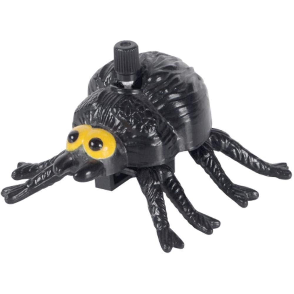 Loftus Halloween Wind-Up Moving Spider Wind-Up Toy, Black Yellow, 12 Pack by 636643