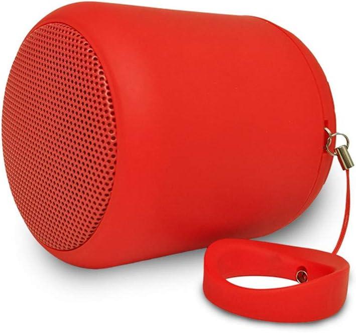 MESST Altavoz Bluetooth Redondo, Soporte TF Card Playback, Altavoz Bluetooth portátil, fácil de Transportar, Soporte de conexión al teléfono móvil Bluetooth, Tablet