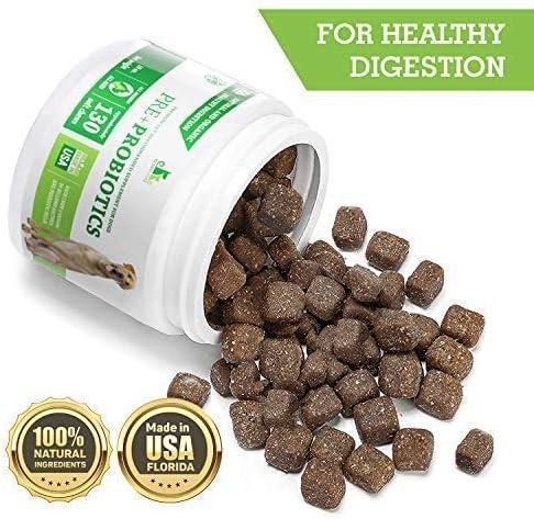 Buddy&Max masticables probióticos para perros – enzimas digestivas – diarrea, estómago, vómito, gas, apoyo de peso, alivio de alergias – contiene prebióticos – Suplemento probiótico para perros – 130 masticables: Amazon.es: Productos para mascotas