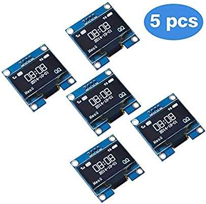 PEMENOL 5PCS OLED Display Module 128 x 64 OLED Display I2c 0 96inch Arduino  OLED Display IIC Serial OLED Module with SSD1306 for Raspberry Pi and