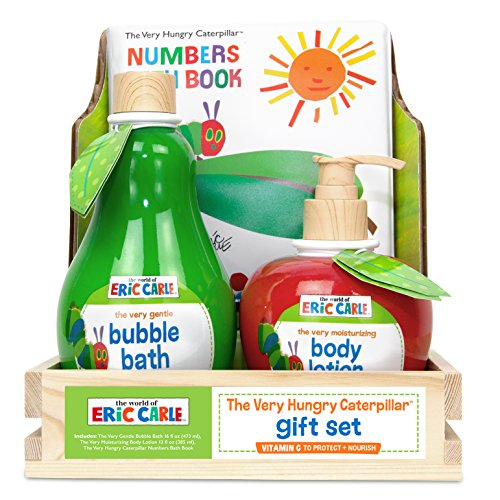 Eric Carle The Very Hungry Caterpillar Bath Set-16 oz. Bubble Bath,13 oz. Lotion,Bath Book