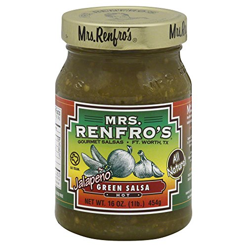 Mrs. Renfro's Hot Jalapeno Green Salsa, 16 Ounce (Pack of 6)