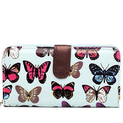 Purse filles Lulu Sac Miss Light sacoche Blue Messenger Papillon femmes épaule à Bandoulière Imprimé Portefeuille main qOqvEdr