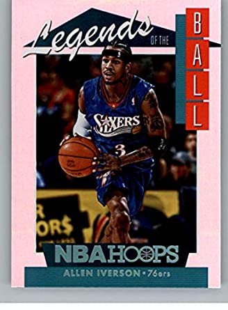 49cd42fb7be 2018-19 Panini Hoops Legends of the Ball #11 Allen Iverson Philadelphia  76ers Basketball