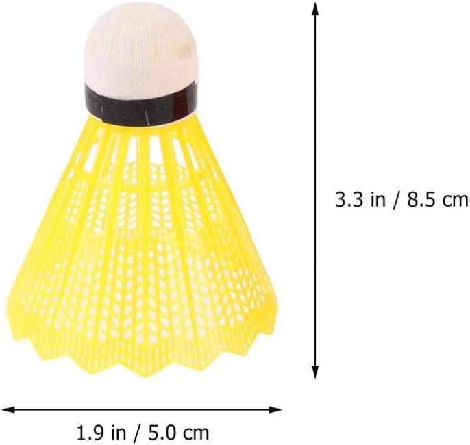 CLISPEED Badminton Shuttlecocks Nylon Badminton Balls for Indoor Outdoor Sports Pack of 6