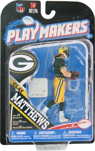 NFL Green Bay Packers 2013 Le meneur de jeu de la série 4 Clay Matthews action figure