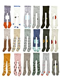 CHUNG Baby Toddler Girls Cotton Footed Tights 0-3Y Cute Design Multi Pattern