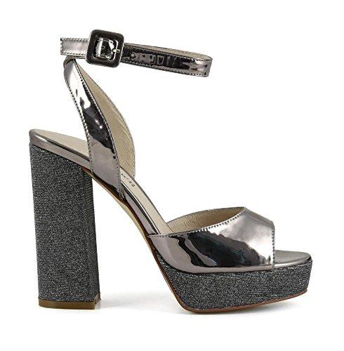 Sandalo MULTIARGENTO en MLG9151981410 41 E17 Papel Cafè 1981 Gilda Aluminio Brillo Noir y UBqRxwO