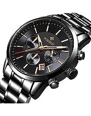 LIGE Men Watches Automatic Mechanical Waterproof Business Date Calendar Watch Man Stainless Steel Gold Black Wristwatch …