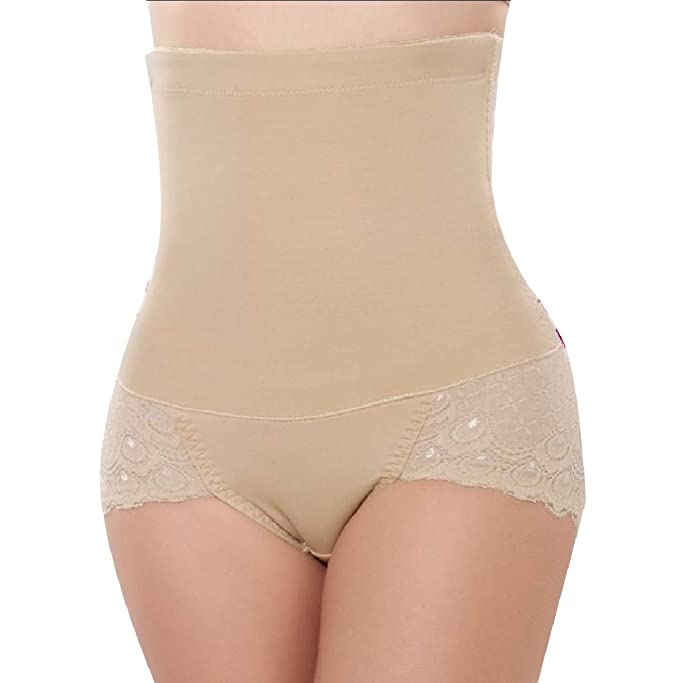 c04b41ec2a Winwinus Womens Plus-Size Lace Shapewear Tummy Control Cotton Underwear L