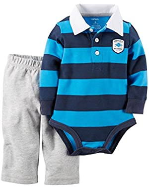 Carters Baby Boys Most Adorable Bodysuit Set 12 Month Blue/grey