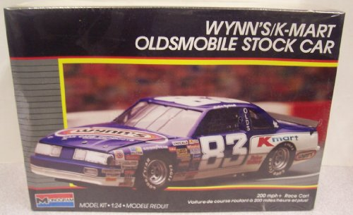 Nascar Stock (#2779 Monogram Nascar Lake Speed Wynn's/K-Mart Oldsmobile Stock Car 1/24 Scale Plastic Model Kit)