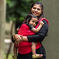 Anmol Baby Carriers - Basic Handwoven Red Soft Structured Baby Carrier