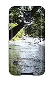 New Style JudyRM A Muddy River Flowing Through The Trees Premium Tpu Cover Case For Galaxy S5