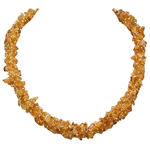 Citrine Cluster Necklace (India) (36