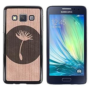 // MECELL CITY PRESENT // Cool Funda Cubierta Madera de cereza Duro PC Teléfono Estuche / Hard Case for Samsung Galaxy A3 /// Seed Meaning Deep Simplistic ///