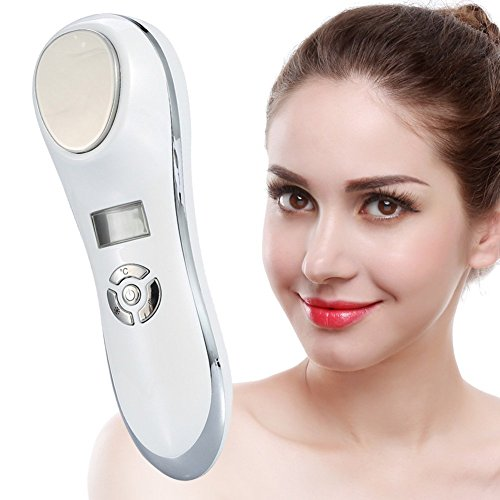 Hot Cold Hammer Massage Skin Tighten Device, USB Charging Facial SPA Anti-wrinkle Beauty Instrument (Silvery) ()