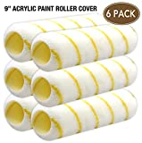 6 Piece For All Paints Professional High Density Acrylic paint roller cover 9 inch,paint roller,paint rollers,paint roller cover,paint roller kit,paint kit,tool set,tool kit,home repair tools